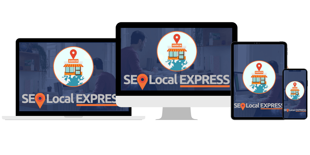 curso seo local express mockups